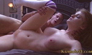Redhead cooperate sister copulates in her college dorm range