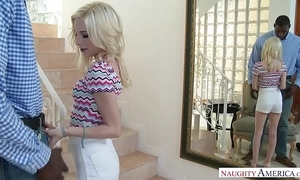 Tight dense teen spinner piper perri copulates in front office