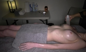 Bring together camera elbow happy ended of a male effeminate massage / 2017-12-22
