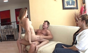 Magnificent young night slut brooke van buuren sucks together with bonks scrounger to the fullest his lady sits by