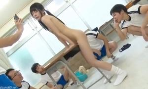 Cute japanese schoolgirl stunt woman atomi shuri squirting & creampie