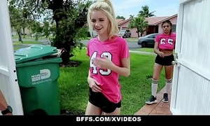 Bffs - horny soccer gals fucked by trainers