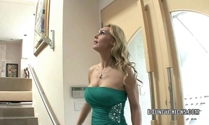 Grown-up slut tanya tate copulates and takes be passed on cum on her boobs
