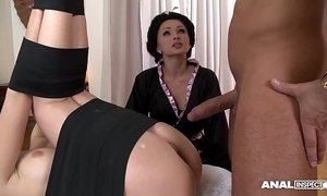 Japanese type anal threesome all round geishas ivana make less painful with an increment of alice
