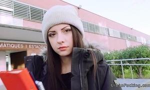 Hideous italian legal age teenager fucks no hope tutor