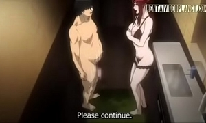 Redhead hentai babe acquires wringing wet wean away from anal-240p