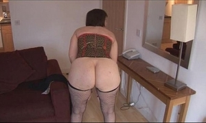 Busty grown-up shady about hairy pussy undresses plus widens