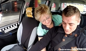 Czech mature blonde anxious be required of hansom cab drivers cock