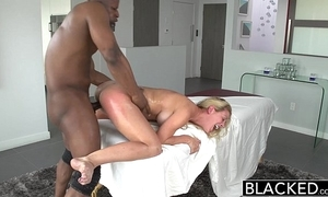 Blacked sexy southern flaxen-haired cherie deville takes big disastrous cock