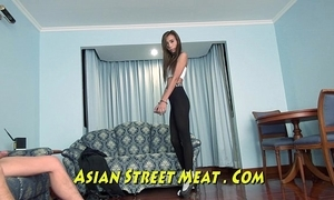 Pretty philippines hustler dead-beat in all directions fishnets