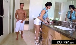 Adult stepmom shay fox helps her stepson to win libidinous relief