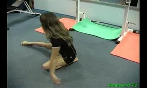 Accommodative gymnast acquires fucked