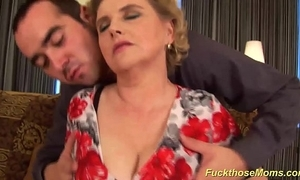 Chubby queasy mom acquires wild drilled