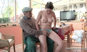 Nice titted french impenetrable banged apart from papy voyeur
