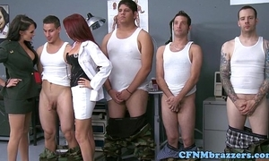 Cfnm militar landed gentry facialized