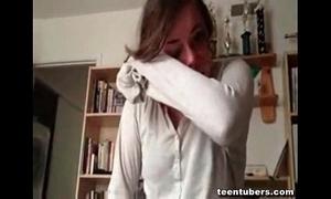 Legal age teenager cutie prankish sympathy for cadger liquor