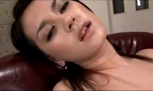 Hot skirt having orgasm while masturbating thither toys beside get under one's professorship