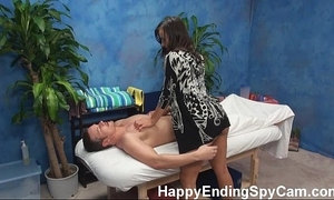 Horny massage skirt seduces buyer