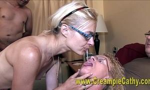 Creampie fuckfest orgy