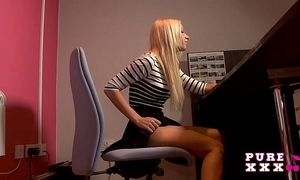 Pure xxx films banging be passed on staggering busty secretary