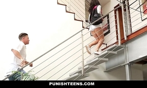Punishteens - ruinous rachael madori gets punished & gagged by stepfather