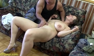 Big-busted german milf enjoys a fat dick in her ass
