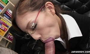 Frangible japanese slut munches on a big unearth