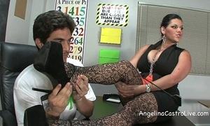 Busty angelina castro threeway footfetish bj apropos class!