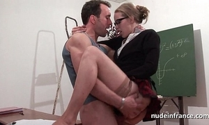 Amateur french pupil hard sodomized together with fisted in hired hall