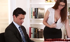 Bosomy secretary getting fucked exceeding directors