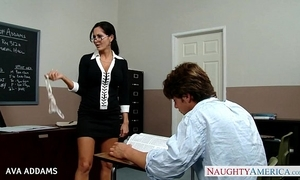 Tutor regarding glasses ava addams gets fat titties fucked