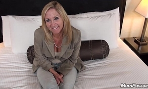 Old granny copulates youthful load of shit pov
