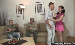 His improper gf copulates his parents