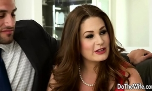 Sexy swinger allision moore is fucked off out of one's mind a long dicked guy to the fullest another couple