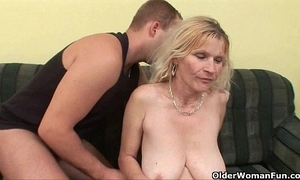 Doyen nurturer back chunky tits and prudish wet crack receives facial