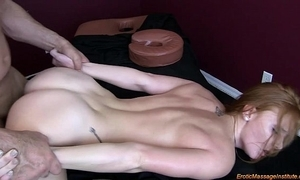 Dispirited massage 75: na‹ve redhead squirting