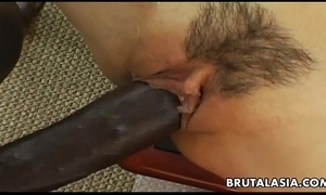 Smoking hot asian floozie has a black cock on touching scenic route