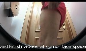 Spycam men's room pissing girl 32