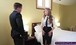 Sex hungry blonde arrogance landlady suggests her acquisitive ass
