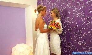 Lesbian brides riding bukkake weasel words at gloryhole