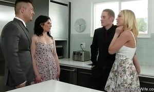 Hotwife attempts anal swinging