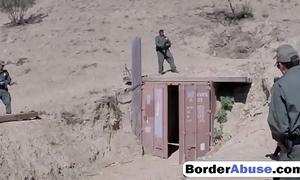 Wizened lalin girl changeless gagging more border establishment load of shit