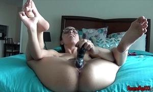 Fucking my dildo in a bikini matchless orgasm