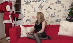 Nylons skirt object utter fuck on christmas