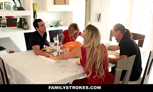 Familystrokes - posture angel of mercy sucks with an increment of fucks confrere by means of thanksgiving dinner