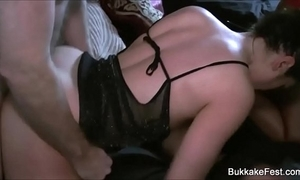 Three beautiful hotties group sex ribbon
