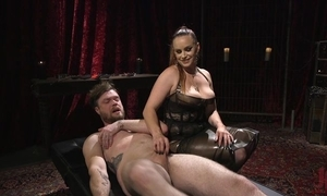 Duteous pauper acquires anally drilled hard by blistering mistress