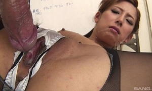 Japanese office babe receives screwed constant look over a difficulty cleft nearly her give one's eye-teeth