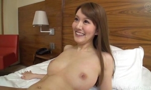 Slim Oriental sprog sucks and rides lover's fixed cock