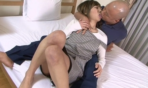 Oriental housewife gets correctly drilled apart from their way husband
